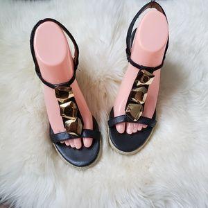 Diane Von Furstenburg Wedge Espadrille Sandals